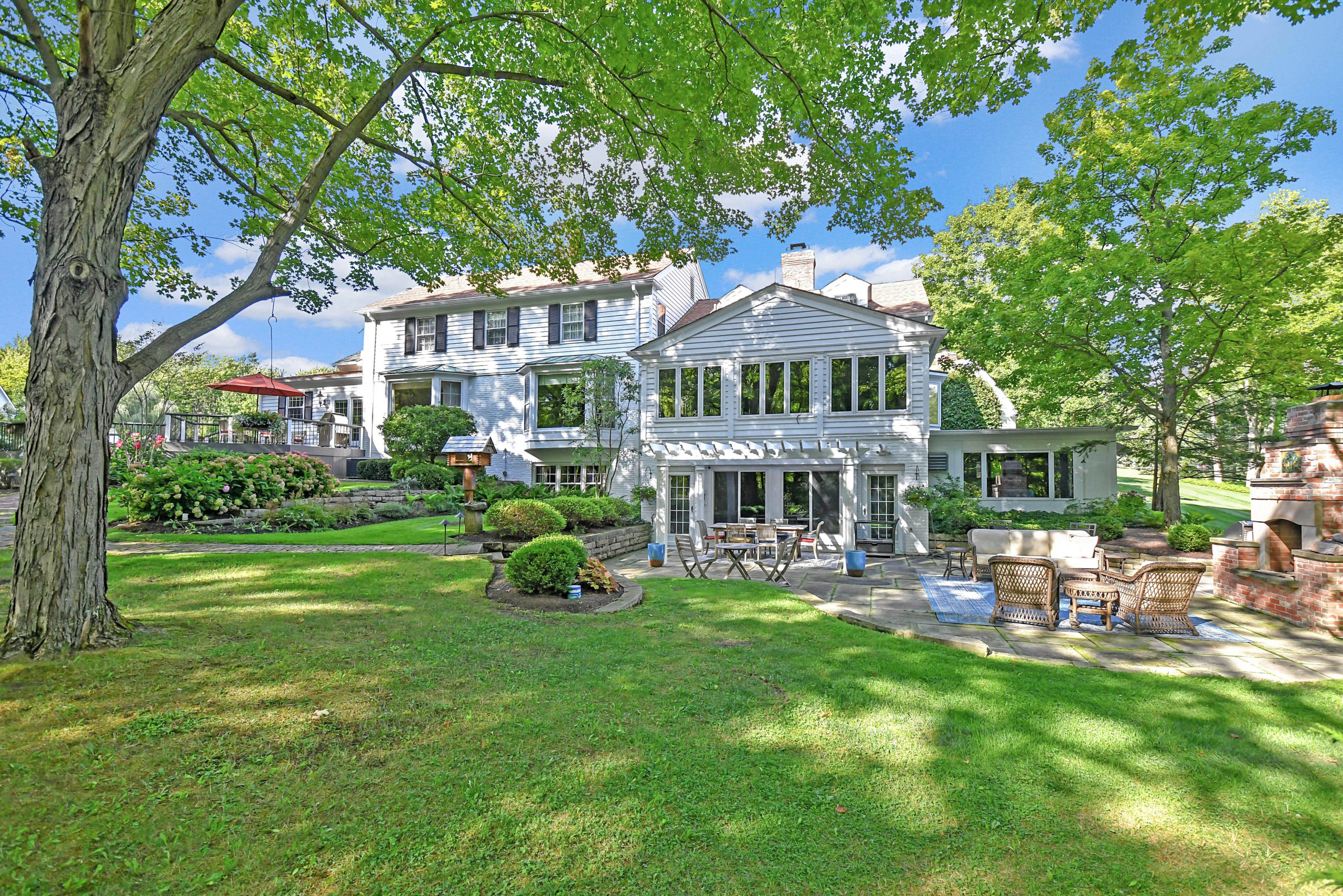 Charming colonial home set on 15 acres for sale on County Line Rd. in Gates Mills